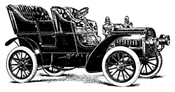 Antique open carriage sedan